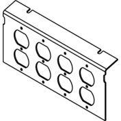 Wiremold P10105-4dp Floor Box Ac10105 Plate (4) Duplex Devices Kos - Pkg Qty 10