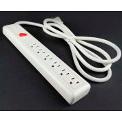 """Wiremold P6 Multi-Outlet Power Unit, 15A, 12""""L, 6 Outlets, 6' Cord"""