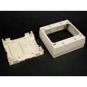 "Wiremold Psb2wh 2-Gang Device Box, White, 4-3/4""L - Pkg Qty 10"