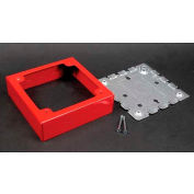 "Wiremold R5752 2-Gang Alarm Device Box, Red, 4""L - Pkg Qty 5"