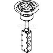 Wiremold RC3ATCVY Poke-Thru Flange & Non-Metallic Slide Holder, Assembled Unit, Flush, Ivory