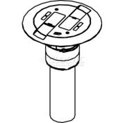 Wiremold RC9AMDTCAL Poke-Thru Flange & Black Slide Holder, Communication, Assembled Unit, Aluminum