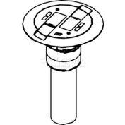 Wiremold RC9AMDTCVY Poke-Thru Flange & Slide Holder, Communication, Assembled Unit, Ivory