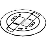 Wiremold RC9CMDTCVY Poke-Thru Flange & Slide Holder,Communication Cover Assembly, Ivory