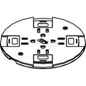 Wiremold RC9SHTCBS Poke-Thru Non-Metallic Slide Holder Assembly, Brass