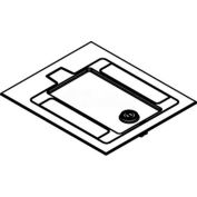 Wiremold RFB119CTCAL Floor Box Cover Assembly For Carpet Covered Floors, Brushed Aluminum