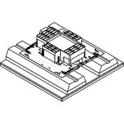 Wiremold RFB4-4DBFC Floor Box 4-Gang Floor Box, Fire Classified, Recessed