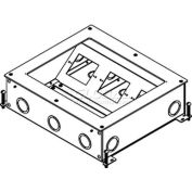 Wiremold RFB4-SS-AAP Floor Box Rfb4 Shallow Device Plate with 2 Aap Devices