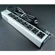 """Wiremold UL205BC Multi-Outlet Power Unit, 125V, 15A, 13""""L, 8 Outlets, 6' Cord"""