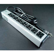 """Wiremold UL205BD Multi-Outlet Power Unit, 125V, 15A, 13""""L, 8 Outlets, 15' Cord"""
