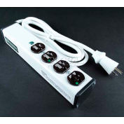 """Wiremold ULBH4-6 Multi-Outlet Power Unit, 10-3/4""""L, 4 Outlets, 6' Cord"""