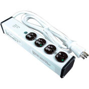 Wiremold ULM4-15 15 ft. 4-Outlet 12-Amp Medical Grade Power Strip Surge Protector