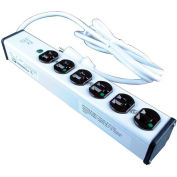 Wiremold ULM6-6 6ft. 6-Outlet 15-Amp Medical Grade Power Strip Surge Protector