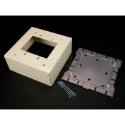 """Wiremold V3044-2 Extra Deep Switch & Receptacle Box (2-Gang), Ivory, 6-3/8""""L - Pkg Qty 5"""