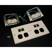 "Wiremold V4047-2wwtt 4-Gng Overlapping Cover, 2 Dplx, 2 Tracjack Mini Adptrs, 9-1/2""L - Pkg Qty 5"