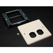"""Wiremold V4047bf Two-Gang Overlapping Cover Duplex & Modular Furniture, 5-1/8""""L - Pkg Qty 10"""
