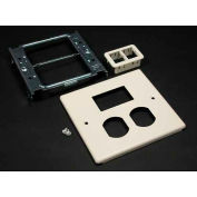 """Wiremold V4047bt For 15a And 20a Dplx Recpt.. Includes Mini Adptr Bezel, Ivory, 5-1/8""""L - Pkg Qty 10"""