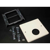 """Wiremold V4047jx Two-Gang Overlapping Cover, Single Round Opening, 5-1/8""""L - Pkg Qty 10"""