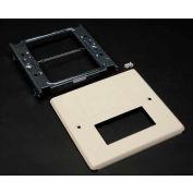 "Wiremold V4047rf 2-Gng Overlap Cover, Rectangular Opening & Modular Furniture, 5-1/8""L - Pkg Qty 10"