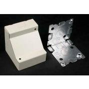 """Wiremold V5719 Corner Box, Ivory, 2-1/2""""L - Pkg Qty 20"""