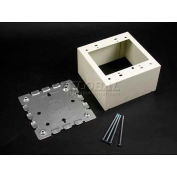 """Wiremold V5744s-2 2-Gang Deep Switch & Receptacle Box, Ivory, 4-3/4""""L - Pkg Qty 5"""