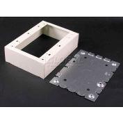 "Wiremold V5748-3 3-Gang Switch & Receptacle Box, Ivory, 4-5/8""L - Pkg Qty 5"