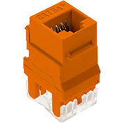 Legrand® WP3450-OR RJ45 Cat 5e Keystone Connector, Orange (M20) - Pkg Qty 20