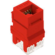 Legrand® WP3450-RE RJ45 Cat 5e Keystone Connector, Red (M20) - Pkg Qty 20