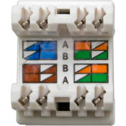 Legrand® WP3450-WH RJ45 Cat 5e Keystone Connector, White (M20)