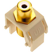 Legrand® WP3461-LA White RCA to F-Connector Keystone Insert, Light Almond (M20) - Pkg Qty 20