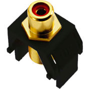 Legrand® WP3462-BK Red RCA to F-Connector Keystone Insert, Black (M20)