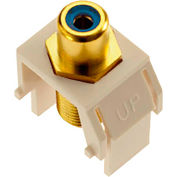 Legrand® WP3464-LA Blue RCA to F-Connector Keystone Insert, Light Almond (M20)