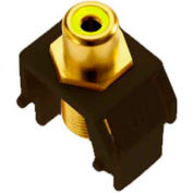 Legrand® WP3465-BR Yellow RCA to F-Connector Keystone Insert, Brown (M20)