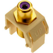 Legrand® WP3466-LA Purple RCA to F-Connector Keystone Insert, Light Almond (M20)