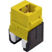 Legrand® WP346A-YE Quick Connect Cat 6a RJ45 Keystone Insert, Yellow (M10) - Pkg Qty 10
