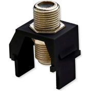 Legrand® WP3479-BK Non-Recessed Nickel F-Connector, Black (M20) - Pkg Qty 20