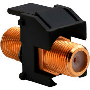 Legrand® WP3480-BK Recessed Gold F-Connector, Black (M20) - Pkg Qty 20