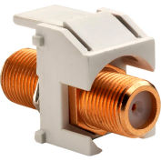 Legrand® WP3480-IV Recessed Gold F-Connector, Ivory (M20)