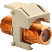 Legrand® WP3480-LA Recessed Gold F-Connector, Light Almond (M20)