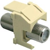 Legrand® WP3481-LA F-Connector Standard Keystone Insert, Light Almond (M20) - Pkg Qty 20