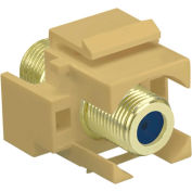 Legrand® WP3482-IV Recessed Self-Terminating F-Connector, Ivory (M20)
