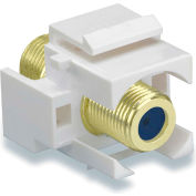 Legrand® WP3482-WH Recessed Self-Terminating F-Connector, White (M20)