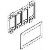 """Wiremold Wsa07-4a 4-Gang Device Mounting Bracket And Trim Ring, Ivory, 11-1/4""""L - Pkg Qty 4"""
