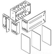 "Wiremold Wsa42-4 Wallsource 4-Gang Multi Service Box, Brackets & Dividers, 9-3/16""L - Pkg Qty 4"