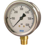 "2.5"" Type 212.53 30INHG VAC Gauge - 1/4"" NPT LM Stainless Steel"