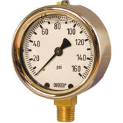 "4"" Type 213.40 300PSI Gauge - 1/2"" NPT LM Forged Brass"