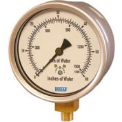 "4"" Type 612.20 30INH2O/mmH2O VAC Gauge - 1/4"" NPT LM Stainless Steel"