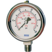 "4"" Type 232.53 100PSI Gauge - 1/2"" NPT LM Stainless Steel"