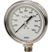 "2.5"" Type 233.54 5,000PSI Gauge - 1/4"" NPT LM Stainless Steel"