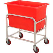 "Winholt Aluminum Bulk Mover 6 Bushel 30-6-A/RD with Red Tub, 33""L x 24""W x 36""H"